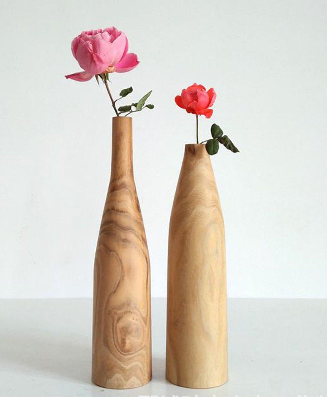 merr.Jarr Wood-Vase-Rustic Vintag Wood Stave, GARDEN Bucket Unfinished DIY Woodvase, Wooden Planter by merr.Jarr (Image #3)