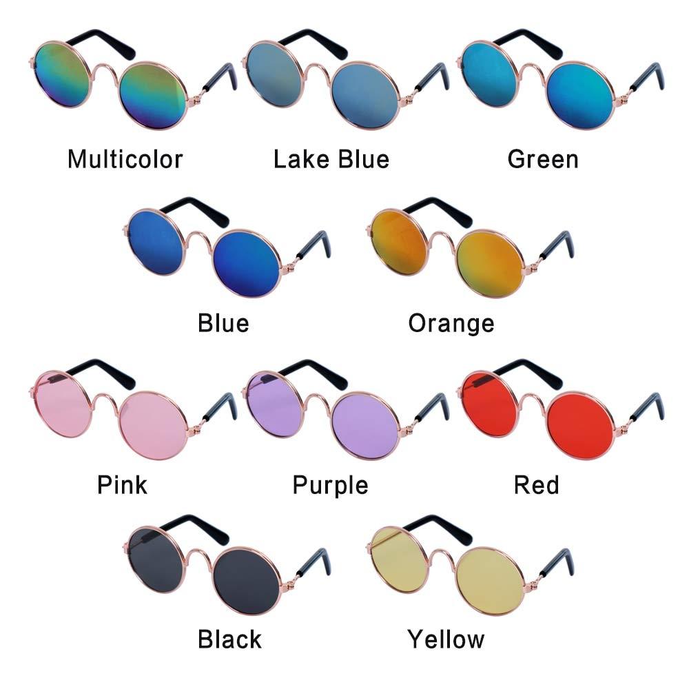 KBWL 1pc Cute Pet Cat Glasses Dog Glasses Pet Supplies Dog Cat Sunglasses Photo Pet Accessories Blue