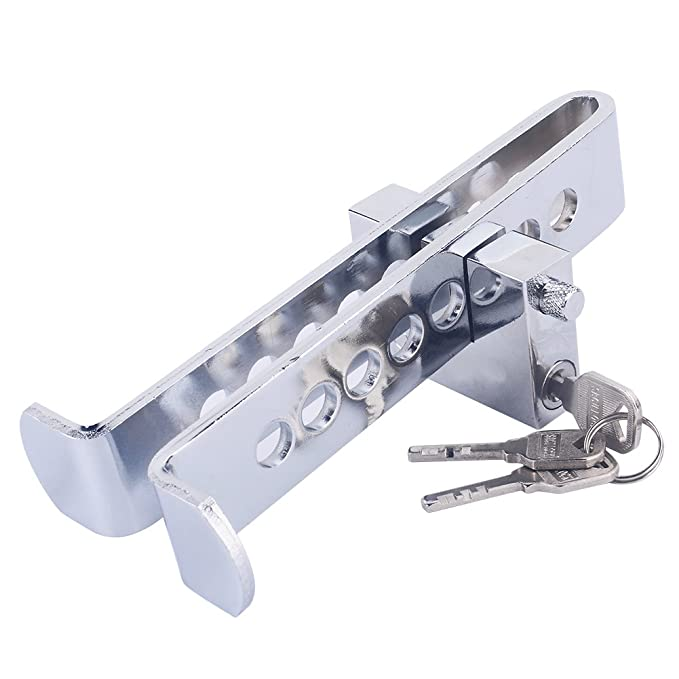 Pedal Lock, bloqueo automático del embrague de acero inoxidable de bloqueo de frenos de coche antirrobo dispositivo fuerte suministros de seguridad 8 ...