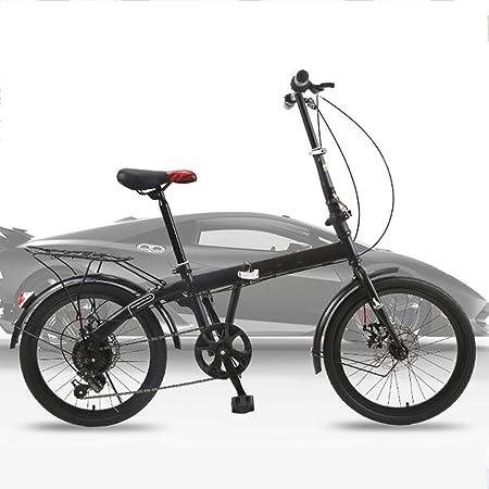 Bicicletas HAIZHEN Cochecito Plegable cercanías Reforzada 20 Negra con desviador de 6 velocidades, Estructura Duradera, Asiento Ajustable para recién Nacido: Amazon.es: Hogar