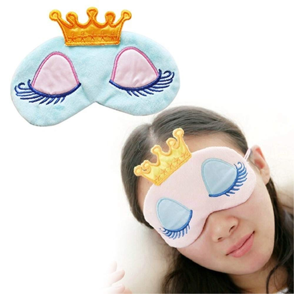 Elevin(TM) Useful Crown Ice Eye Mask Shade Cover Rest Eyepatch Blindfold Shield for Sleep (Blue)
