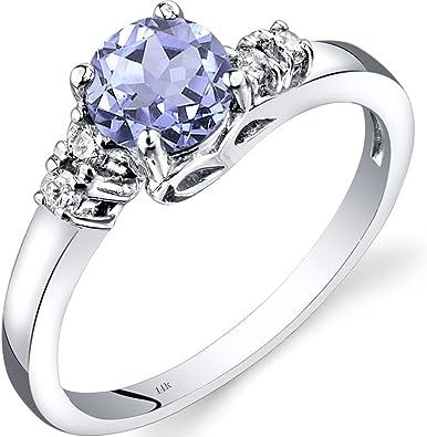 Gift Rings Natural Tanzanite Rings Dainty Tanzanite Ring Blue Tanzanite Rings Tanzanite Gift Rings Silver Rings Simple Tanzanite Rings