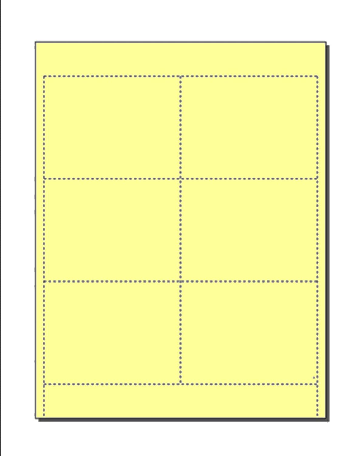 "Blank Name Badge Inserts, Print-Ready on 8.5"" x 11"", 67-lb Yellow Vellum, 6 Badges Per Sheet (4"" x 3"") - 250 Sheets Zapco"