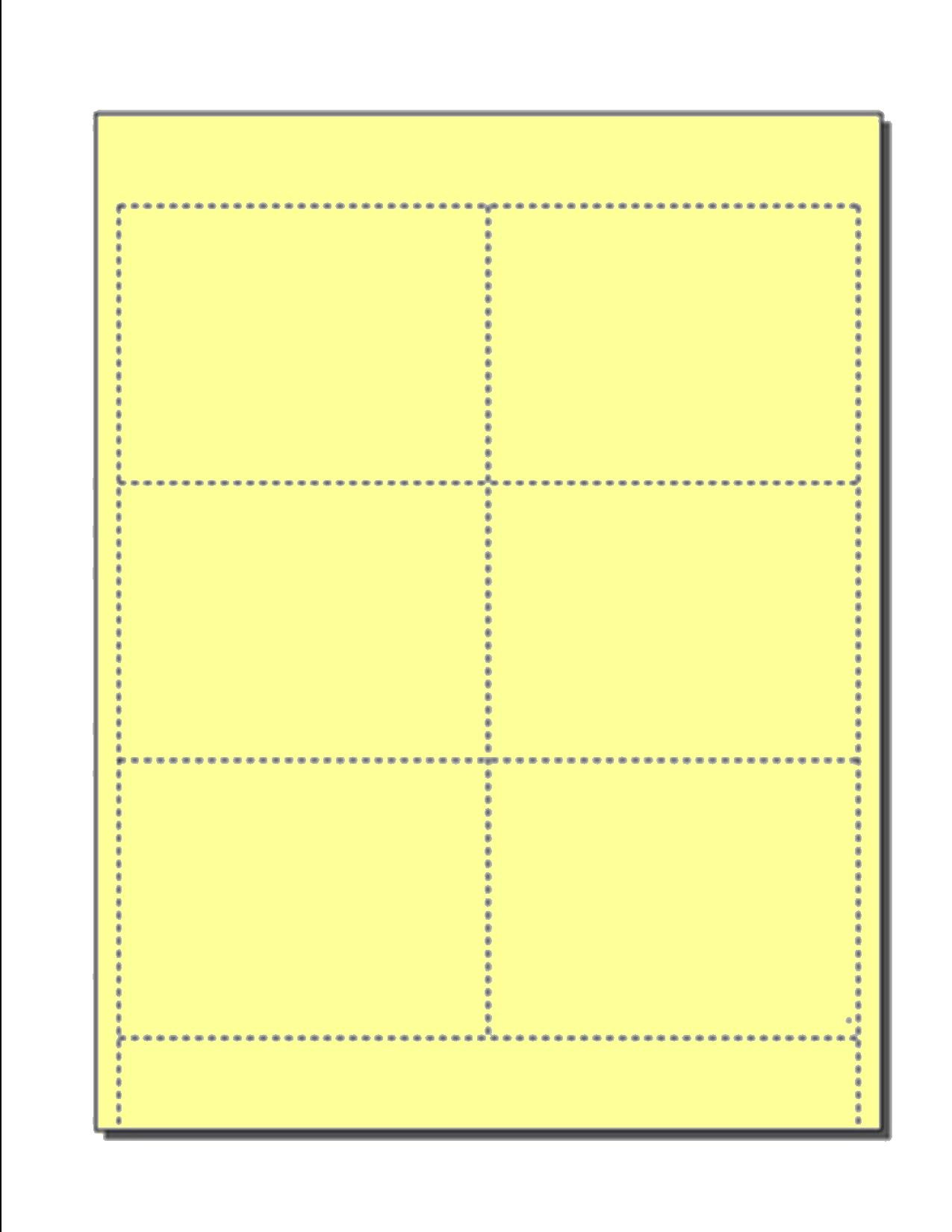 Blank Name Badge Inserts, Print-Ready on 8.5'' x 11'', 67-lb Yellow Vellum, 6 Badges Per Sheet (4'' x 3'') - 250 Sheets by Zapco
