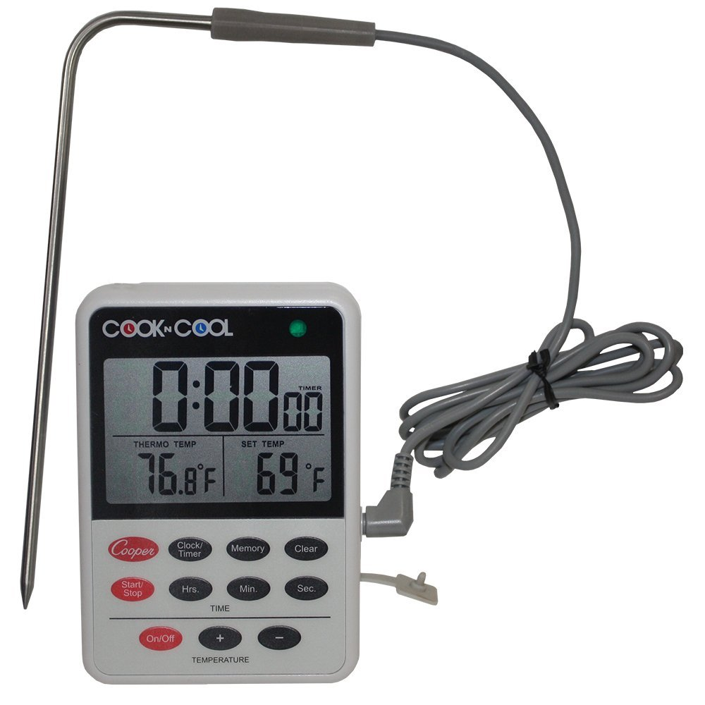 Cooper-Atkins DTT361-01 Digital Meat Thermometer, Cooling Thermometer (Cook N Cool - Cooking and Cooling Temperature Monitor) by Cooper