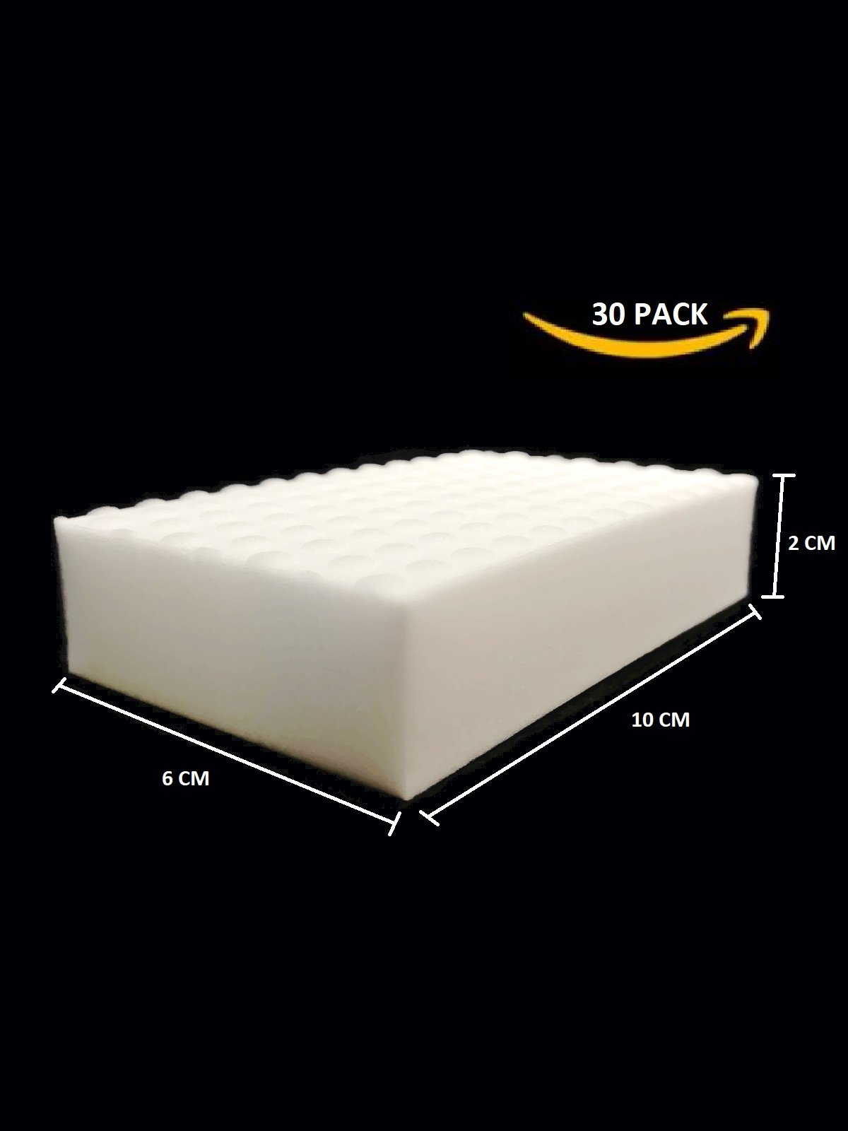 Magic Cleaning Eraser Sponge - Heavy Duty - 10x6x2 cm - Melamine Foam Universal Cleaner for Drywall, Marble, Leather, Wood, Metal. JUST ADD Water to Clean Any Surface-The Quality SUPPLIERS (30 Pack)