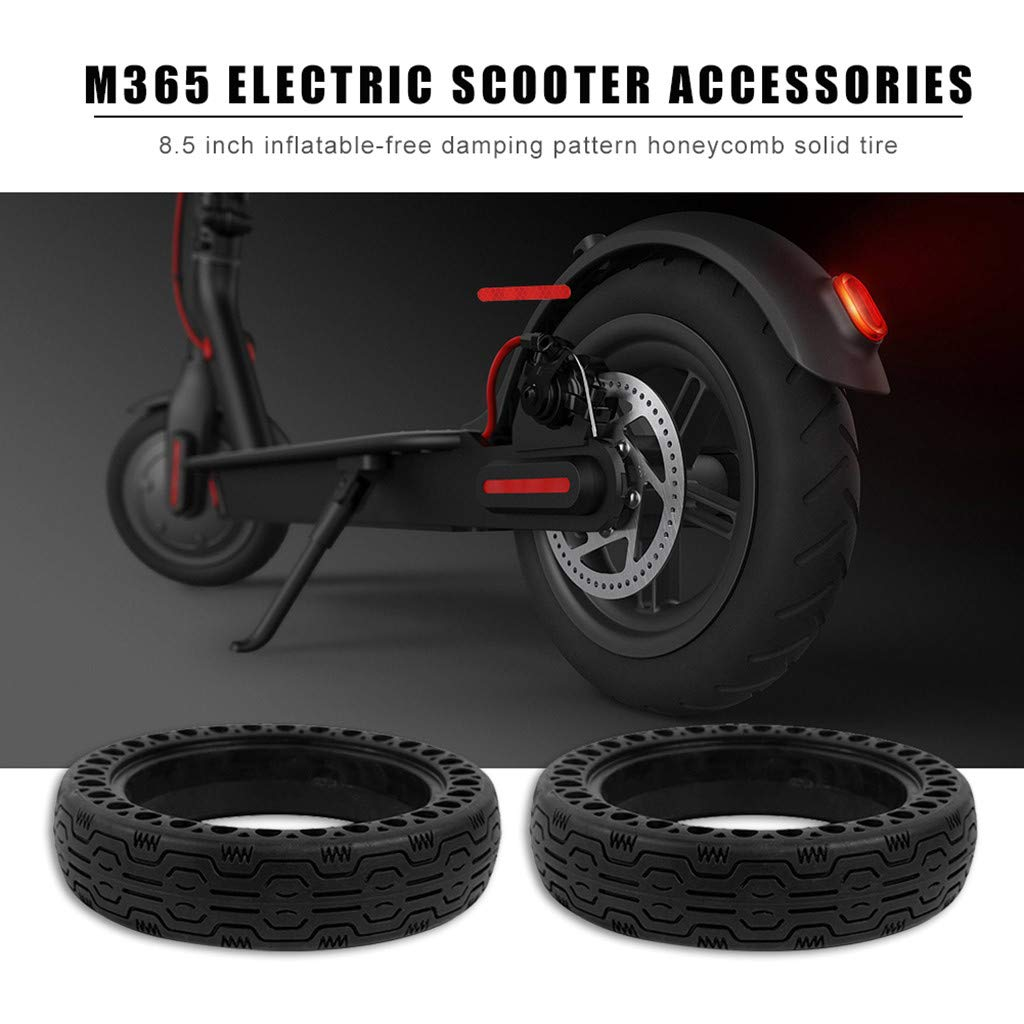 2 Pieces Replacement Wheels for Xiaomi Mi m365//GOTRAX GXL V2 Electric Scooter DEYIOU Scooter Solid Tires 8.5 Inches