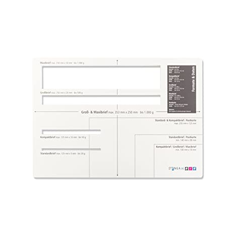 Itenga Feste Formato Stencil Brief Stencil Deutsche Post Brief