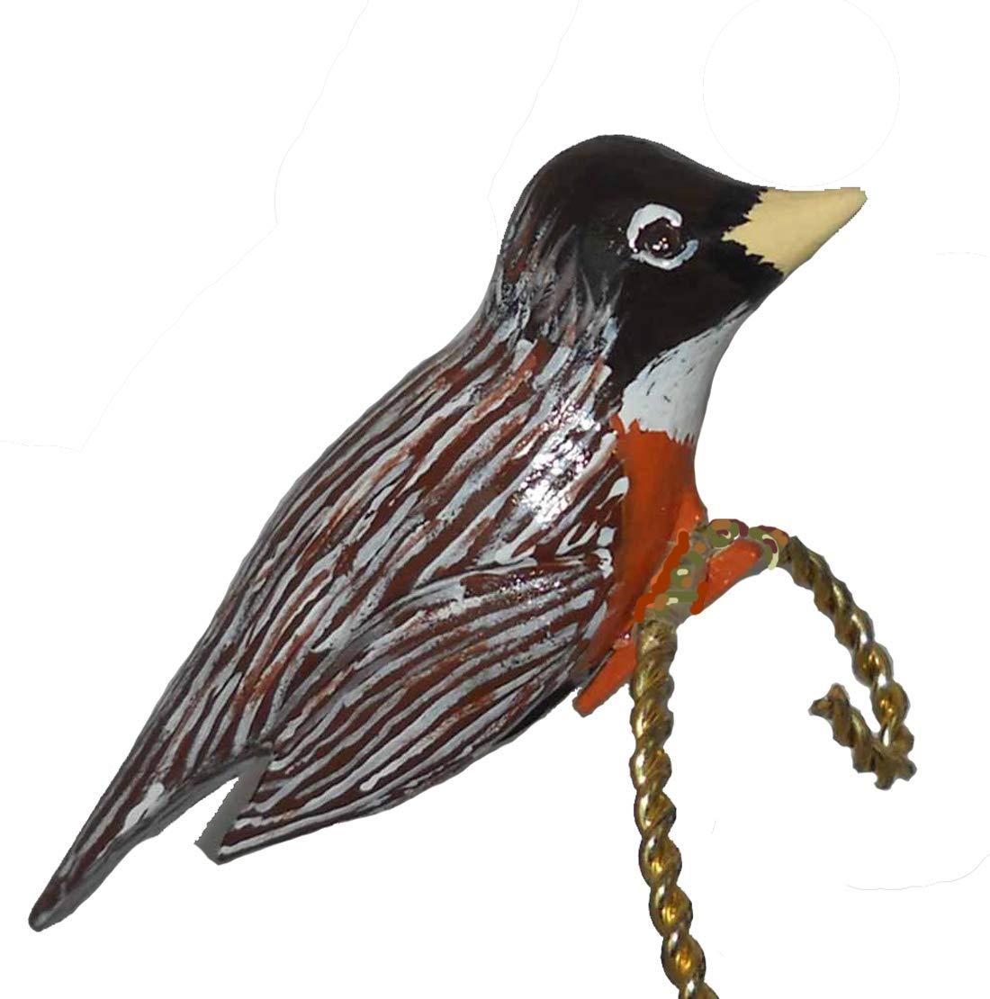 Amazon Com Hand Carved Robin Clip On Christmas Ornament Handmade
