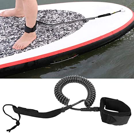 Water Board Surfing Accessories 7MM//10ft Keen so Padded TPU Surfboard Coiled Wrist Leash with Padded Wristband