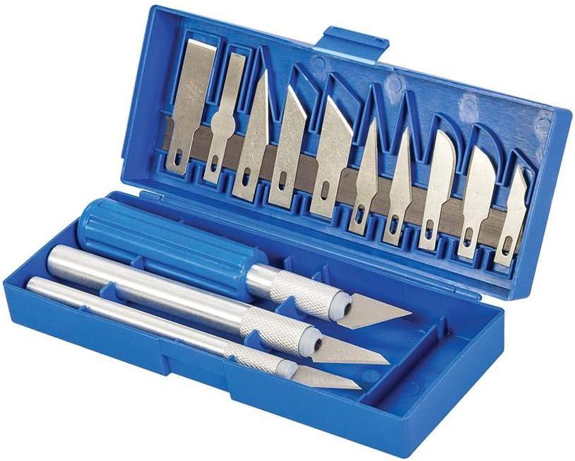 Silverline Tools 251094 - Juego de cúters y cuchillas, 16 piezas
