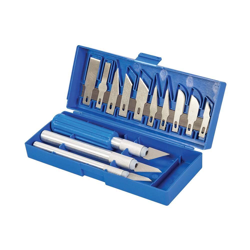 Tweezer Amtech S0504 Craft Set Hobby Blades A4 Cutting Mat Rotary Cutter Sharpening Stone and 31pc Storage Case