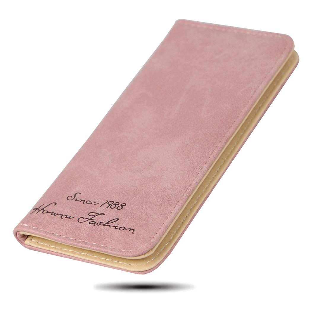 Women's Wallet RFID Covering Frosted Leather Folded Wallet ID Cards Pack Kids Wallet