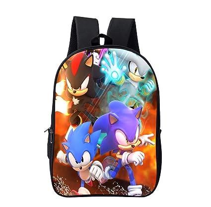 Amazon.com : CXDM School Backpack 3D Hedgehog Sonic Print ...