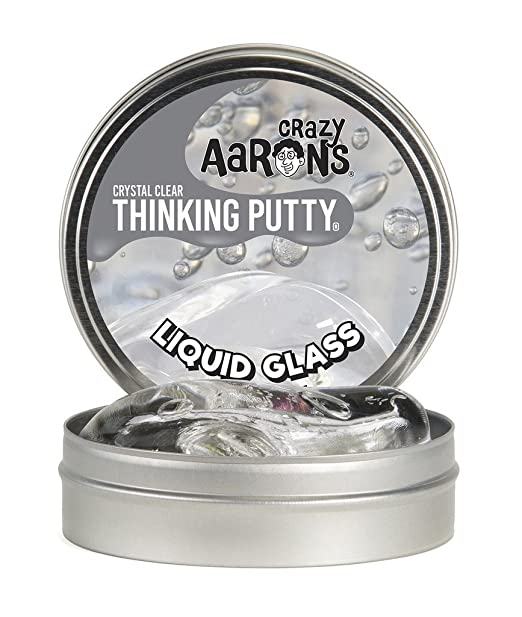 On readers' and writers' shopping lists: Crazy Aaron's Thinking Putty, 3.2 Ounce, Liquid Glass