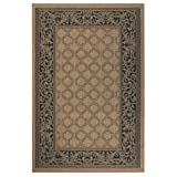 Cheap Entwined All weather Area Rug, 3'9″x5'5″, COCOA BLACK
