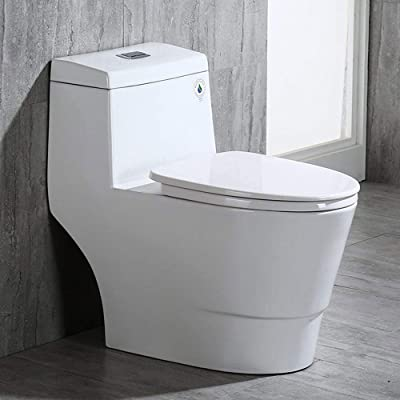 WOODBRIDGE T-0019 Cotton White toilet | Modern Design, One Piece, Dual Flush