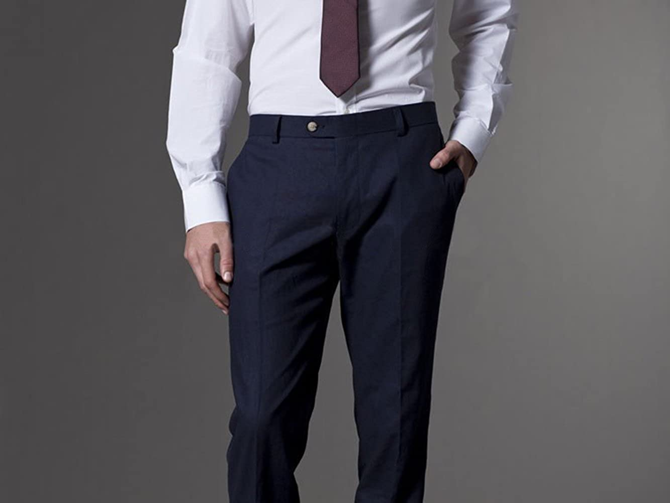 Wxili Mens Suit Two Piece Business Suits for Men Slim Fit Wedding 2018