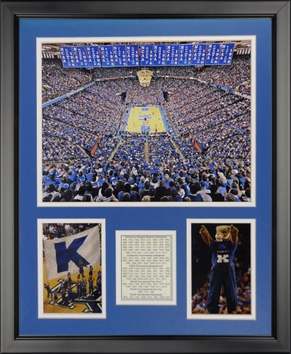 Legends Never Die Kentucky Wildcats - Rupp Arena Framed Photo Collage, 16