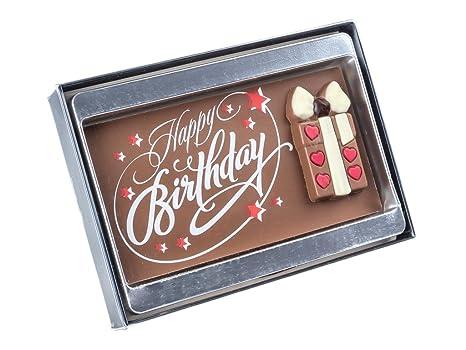 Tableta de chocolate - Feliz cumpleaños con un regalo - 75 g