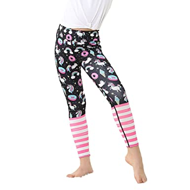 c112667b568ad Yying Girl Yoga Pants Bodybuilding Comfortable Youth Leggings Forest Flower  Floral Kids Skinny Sports Trousers: Amazon.co.uk: Clothing