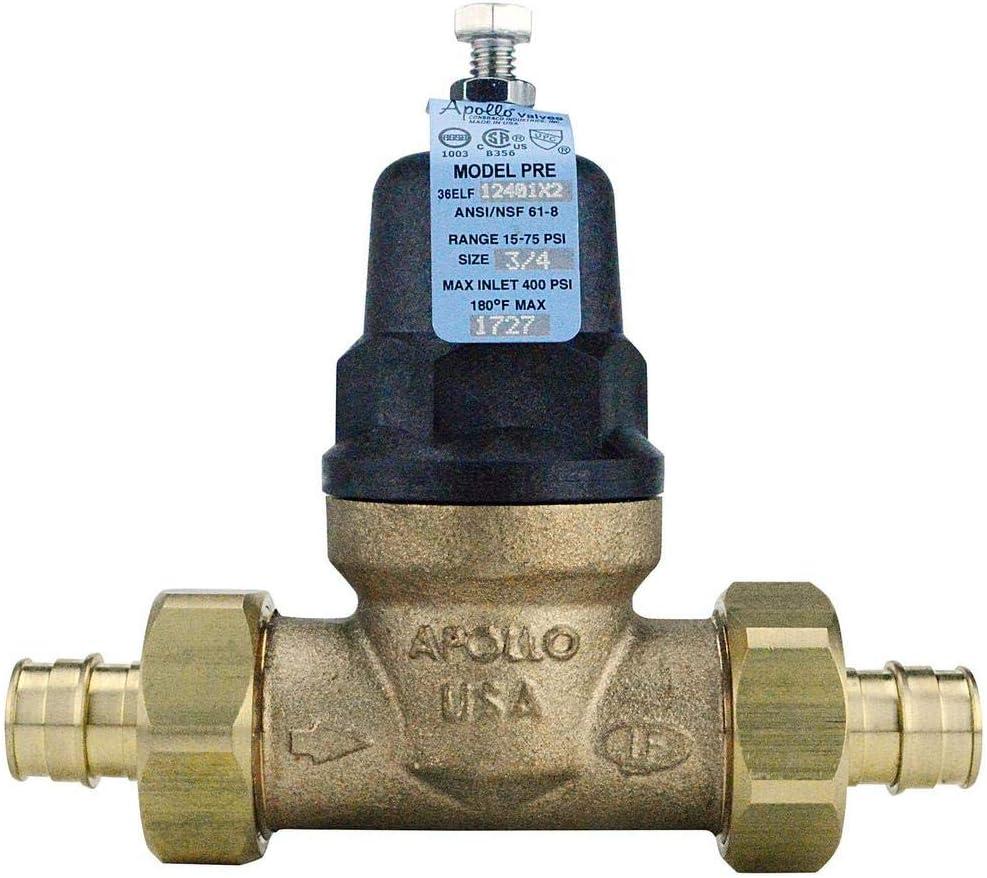 3 4 In Bronze Double Union Pex A Expansion Barb Water Pressure Regulator Amazon Com