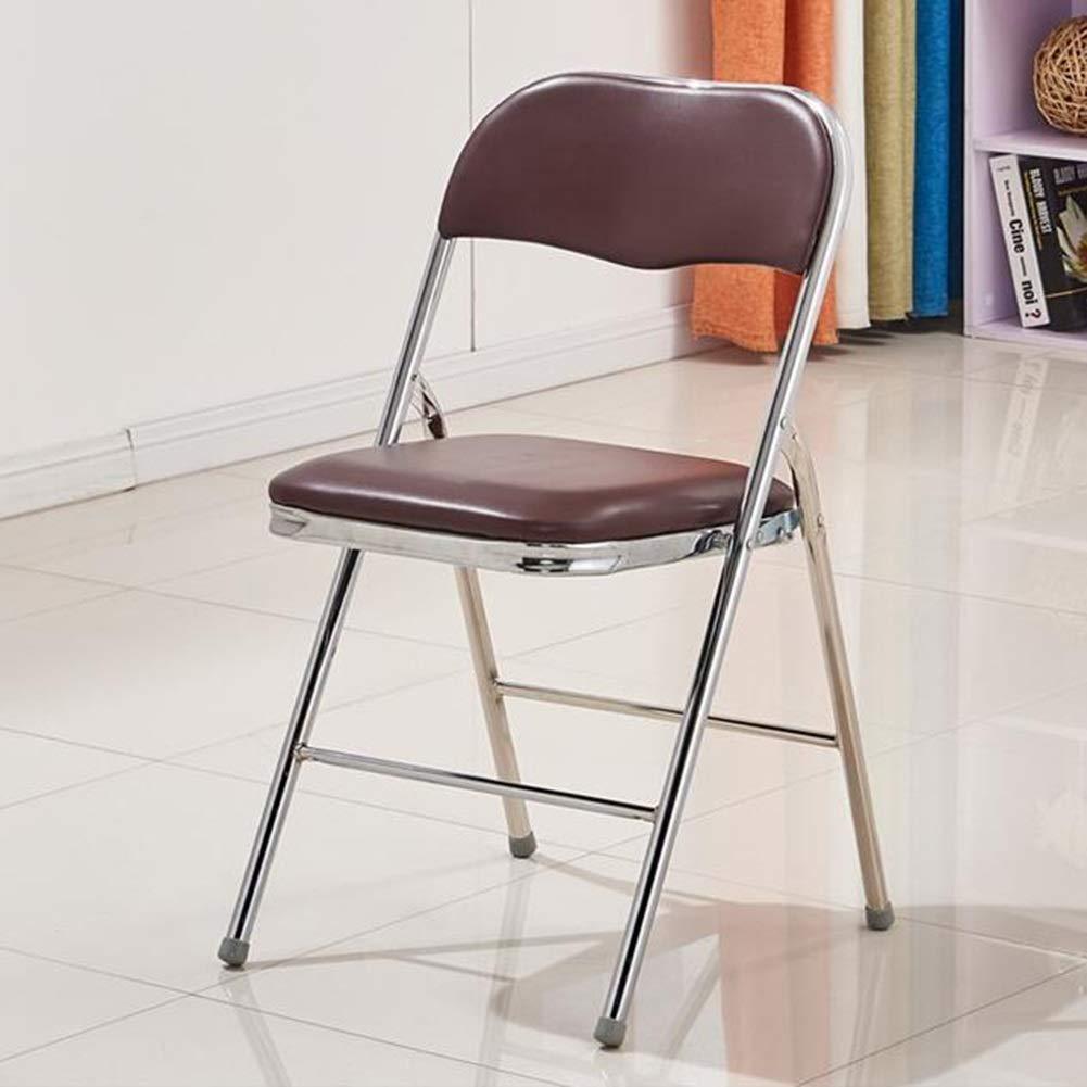 WYYY silla de Oficina Plegable Silla con Cuero Efecto ...