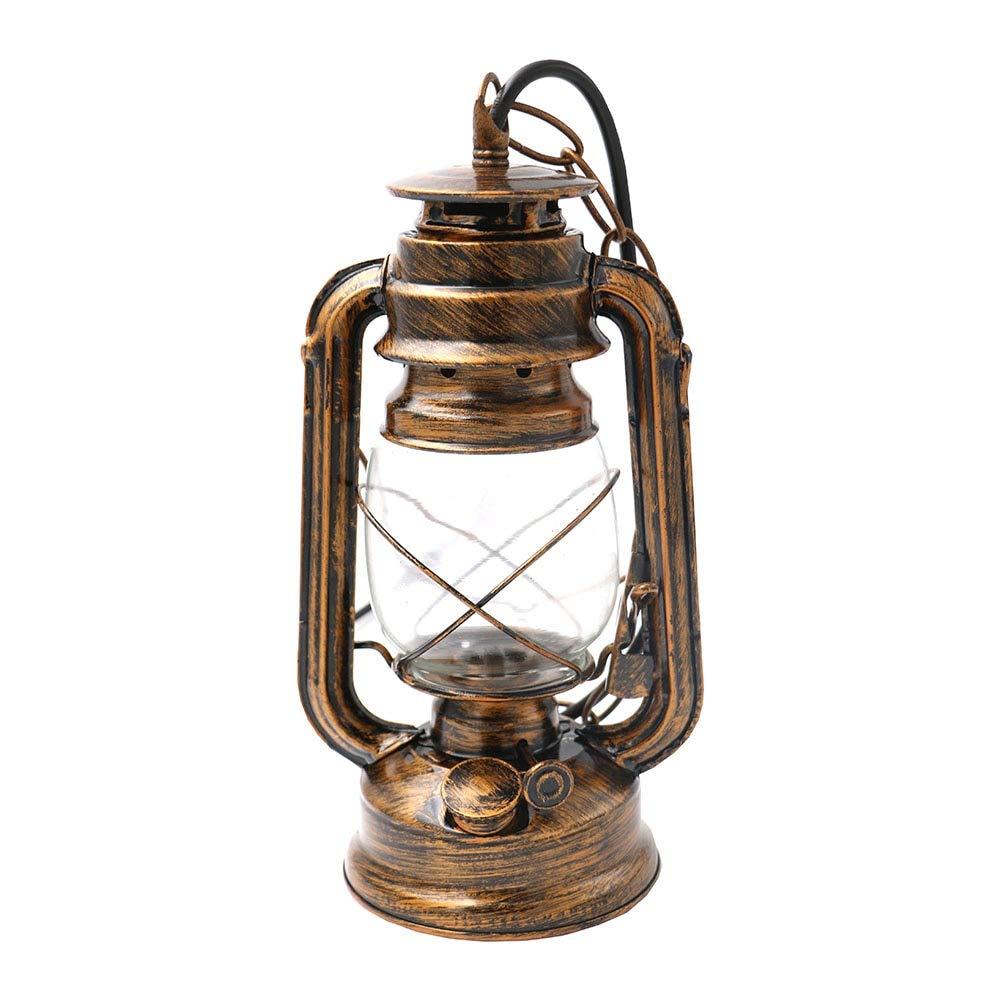 With E27 Bulb HDXDDYL LichtlightEtro Brief Vintage Nostalgi Petroleum Pendelleuchten Petroleum Laterne Lampensockel Antik   Mit E27 Birne
