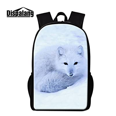 Dispalang Cute Fox Backpack for Children Cool School Bag Pattern for Girls Boys Day Pack
