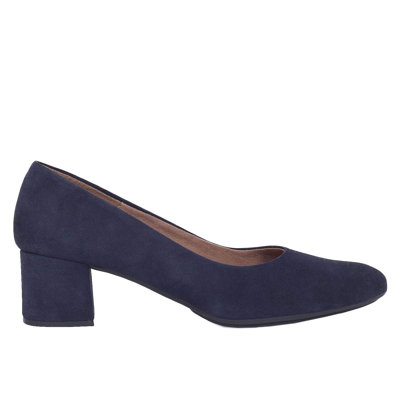 TALLA 37 EU. Zapatos Salón. Zapatos Piel Mujer Hechos EN ESPAÑA. Zapatos Tacón Azul Marino. Zapato Mimao. Zapatos Mujer Tacón. Zapatos Mujer Fiesta. Zapato Cómodo Mujer con Plantilla Confort Gel