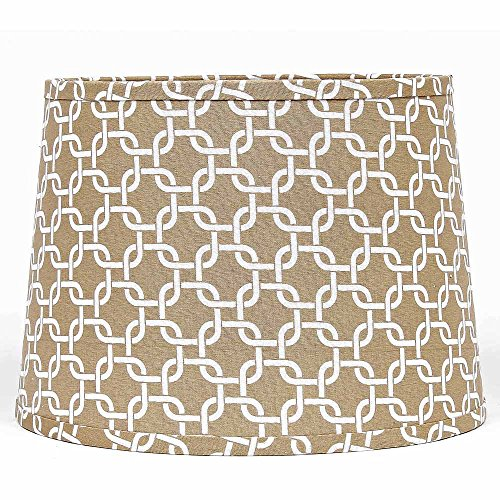 - Home Collection by Raghu 4D990005 Cream & White Greek Key Washer Drum Lampshade, 14