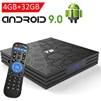Android 9.0 TV Box with 4GB RAM 32GB ROM, EASYTONE 2019 New Android TV Box Quad Core/ 64 Bits/ BT4.0/ H.265/ 3D UHD 4K Smart Internet TV Box