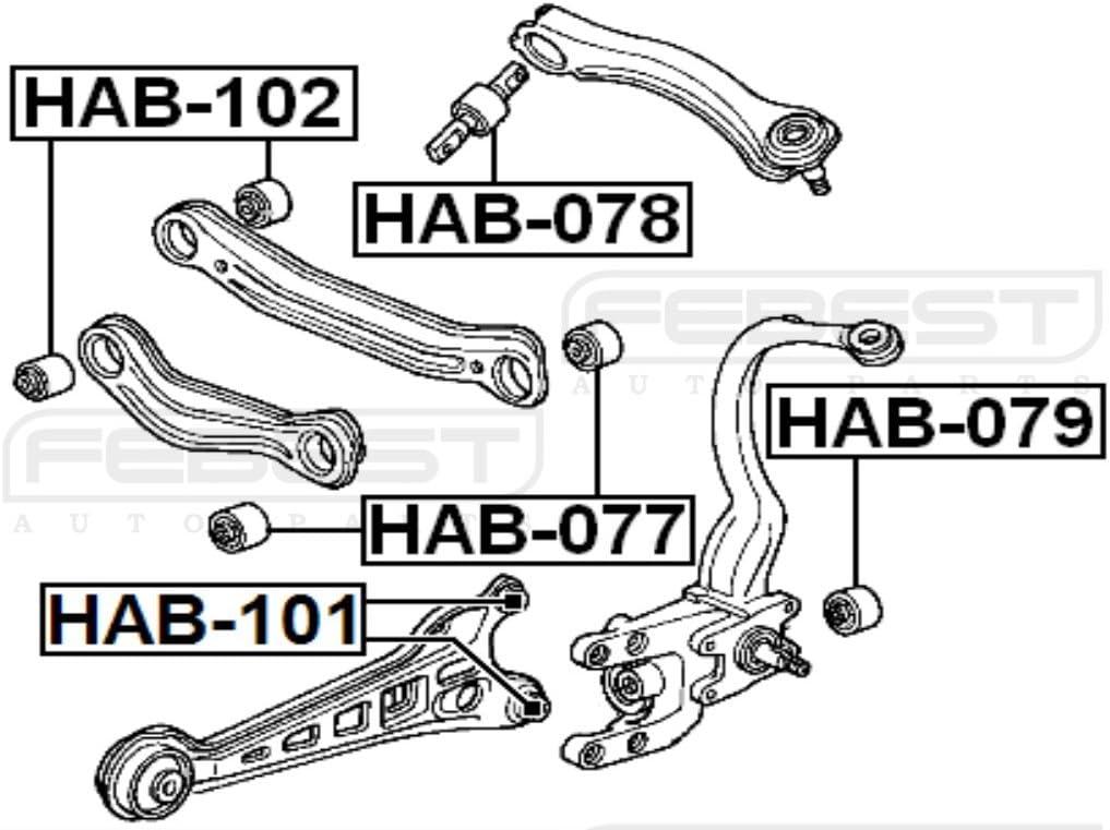 52622Sm4003 Arm Bushing for the Rear Shock Absorber For Honda