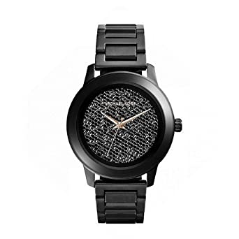 f5b6e44bab15 Image Unavailable. Image not available for. Color  Michael Kors MK5999  Kinley Women s Black Ion Diamond Dial Watch