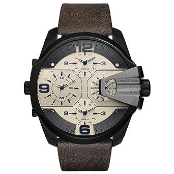 Diesel Reloj Analógico para Hombre de Cuarzo con Correa en Cuero DZ7391: Amazon.es: Relojes