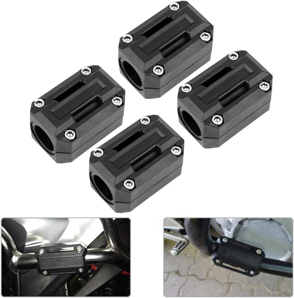 2 paires pour R1200GS R1150GS R1100GS F800GS F650GS F700GS F650GS garde de moteur d/écor Anti-chute avec /écrou /à vis bloc de pare-chocs de moteur noir