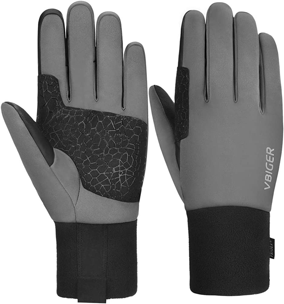 VBIGER Winter Cycling Gloves Touch Screen Waterproof Windproof -30~0°C Thermal Gloves Anti-slip Winter Sports Gloves with Thickened Fleece Lining and 3M Thinsulate Cotton Layer: Amazon.es: Ropa y accesorios
