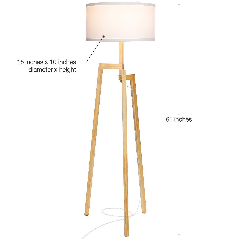 Amazon.com: Brightech New Mia - Lámpara de pie con trípode ...
