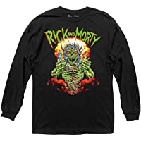Ripple Junction Rick and Morty Adult Unisex Nuclear Ghoul Witch Tour Light Weight 100% Cotton Long Sleeve Crew T-Shirt