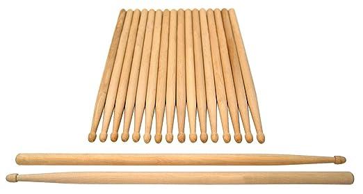 10 opinioni per 10 paia di bacchette per batteria in legno massello, XDrum Classic 5A punta in