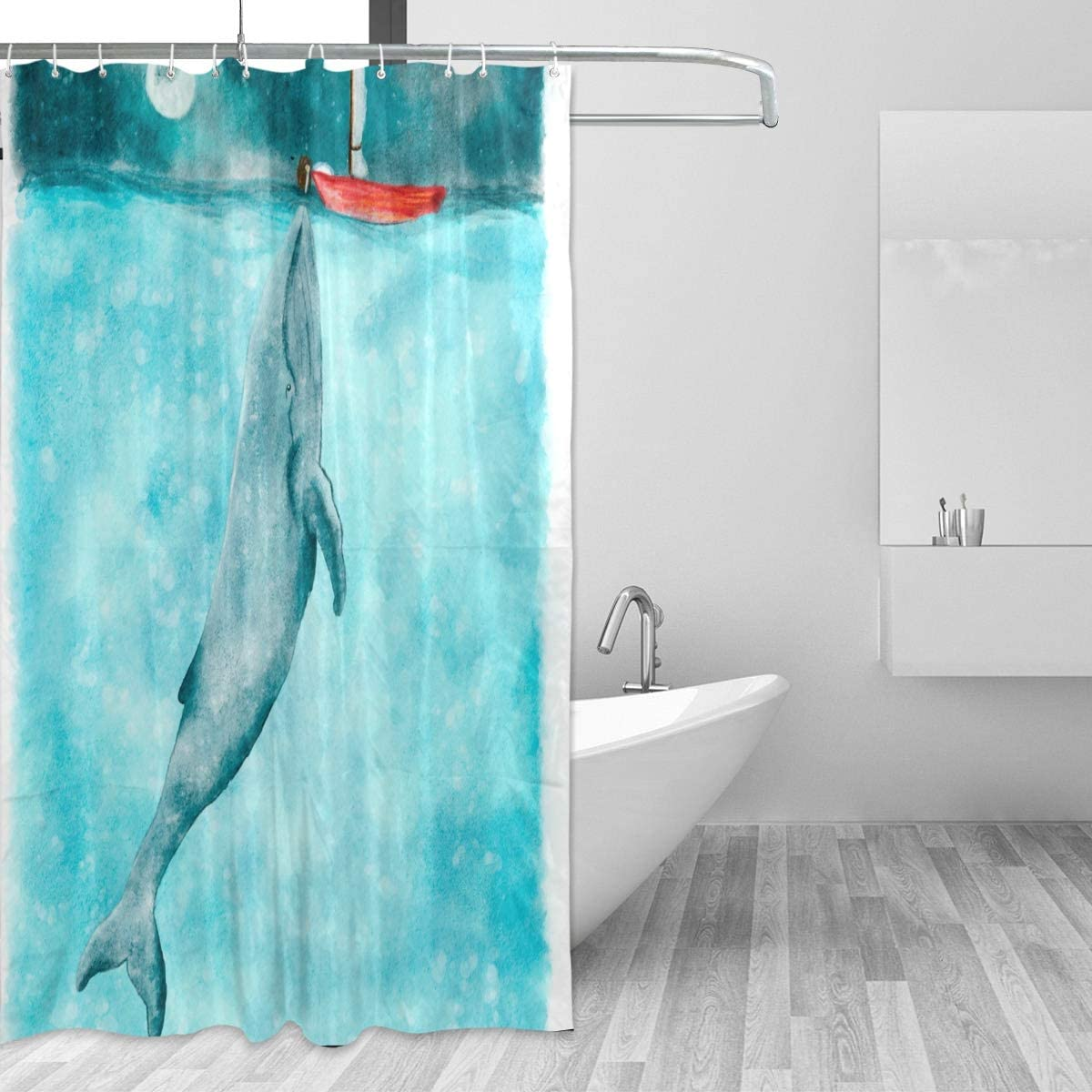 ISAOA Brown Army Camouflage Shower Curtain Waterproof Mildew Resistant Anti-Bacterial Personalized Design Polyester Fabric Curtain for Bathroom,180x180cm with 12 hooks