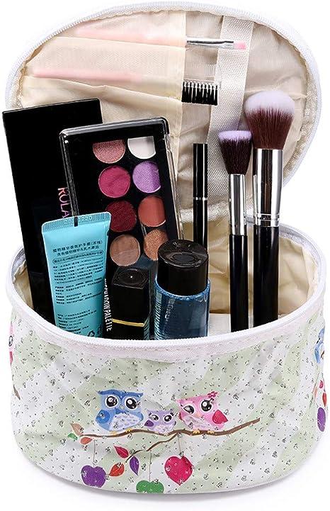 Bolso Caja de Maquillaje Portátil Yesmile ❤️ Bolso de la Moda portátil Estuche de Viaje en Forma de Barril Bolso de Cosméticos Bolsa de Maquillaje para Cosas pequeñas: Amazon.es: Deportes y aire