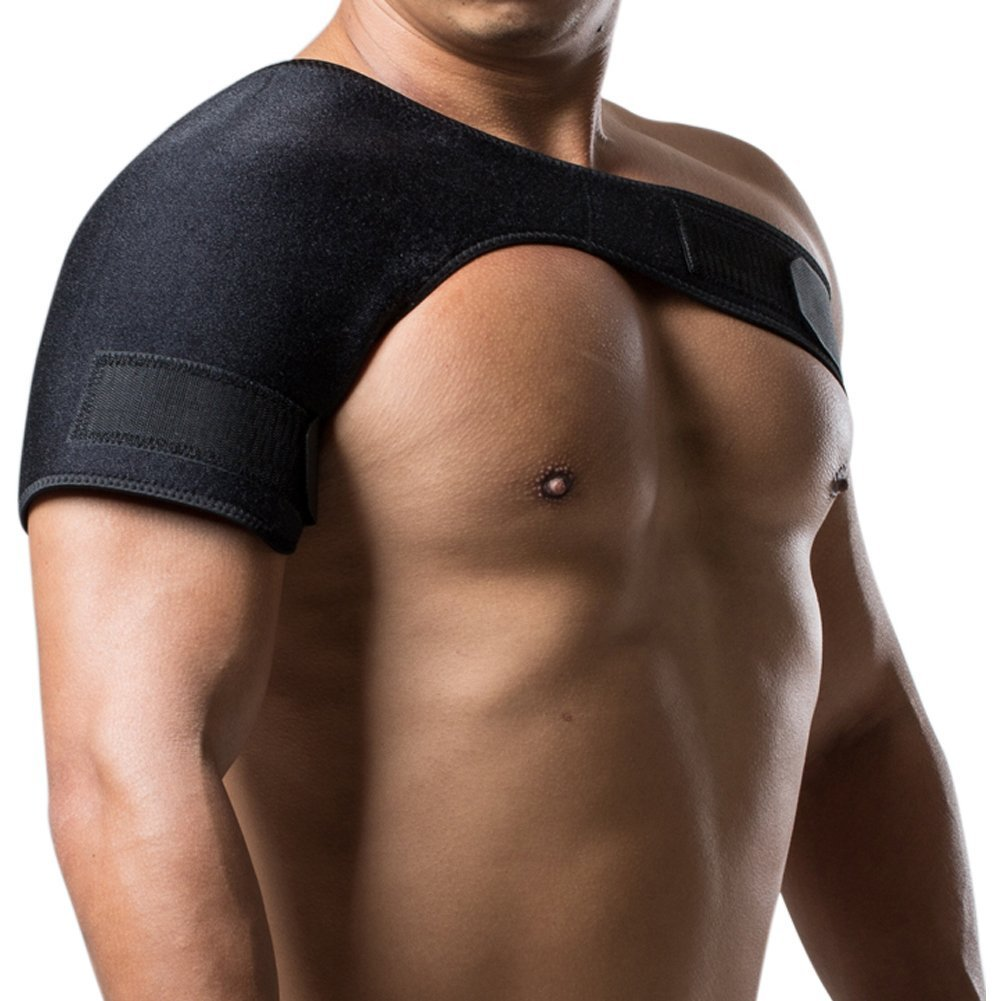 Shoulder Support Brace, Adjustable Breathable Shoulder Stability Band for Injury Prevention and Recovery Fits Left Or Right Shoulder(Size 36''-42'')