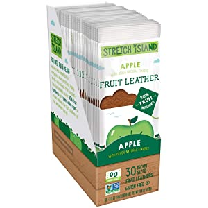 Stretch Island Original Fruit Leather, Apple, 0.5 Ounce Leathers, 30 Count