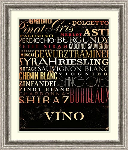 Petite Sirah Syrah (Framed Art Print 'Vino Type' by Stephen Fowler)