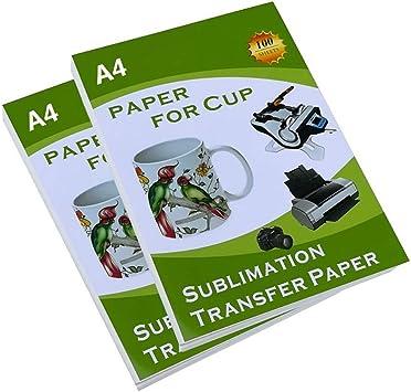 Amazon.com: Papel de transferencia de sublimación para taza ...