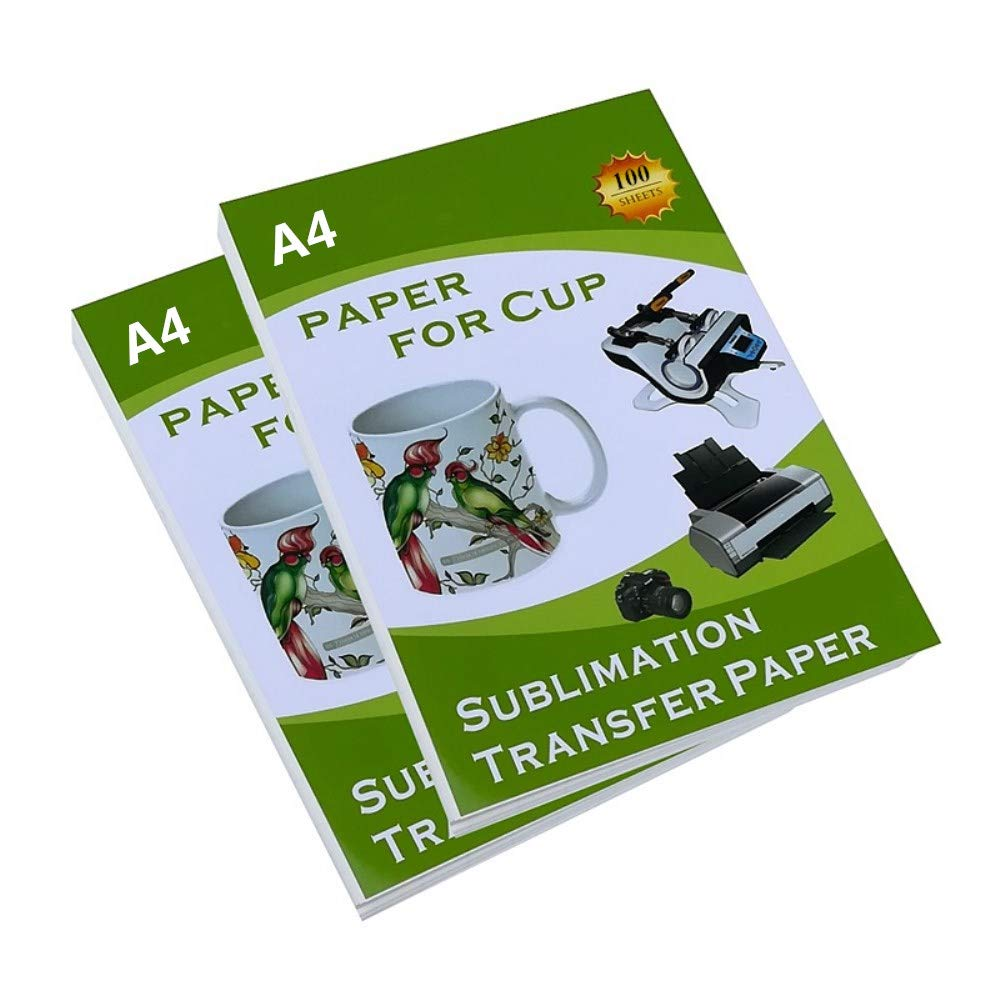8.5'' X 11'' Mug Sublimation Transfer Paper A4 Size Inkjet Printing Cup Decal Light Color Transfer Paper - 100 Sheets