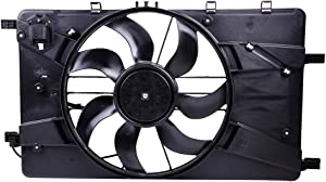ECCPP AC A/C Condenser Radiator Cooling Fan Assembly Replacement fit for 2012 Buick Verano 2011-2016 Chevrolet Cruze 1.4L 1.8L 2.0L