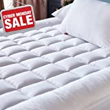 Amazon Com Pillowtop Mattress Pad With Fitted Skirt