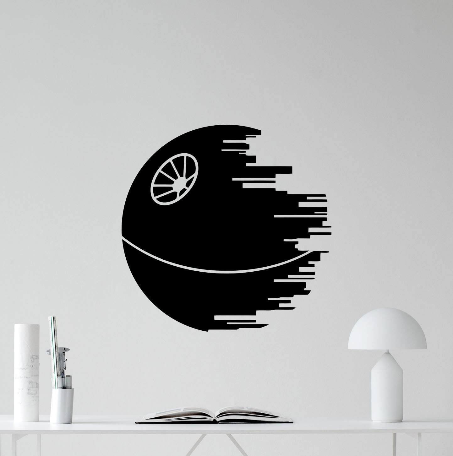 Death star wall decal star wars galaxy empire planet quote wall decals vinyl sticker kids wall art design bedroom nursery wall decor stencil mural 69bar